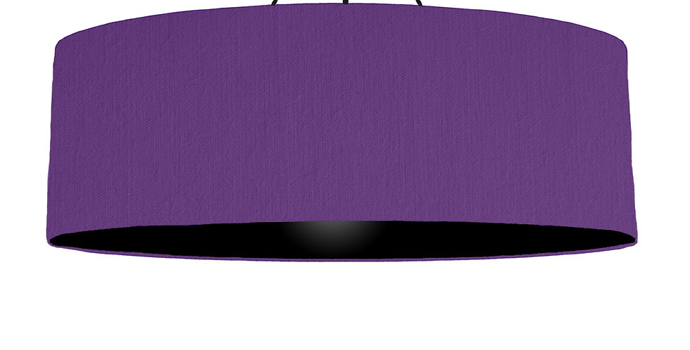 Violet & Black Lampshade - 100cm Wide