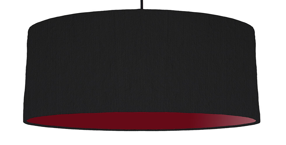 Black & Burgundy Lampshade - 70cm Wide