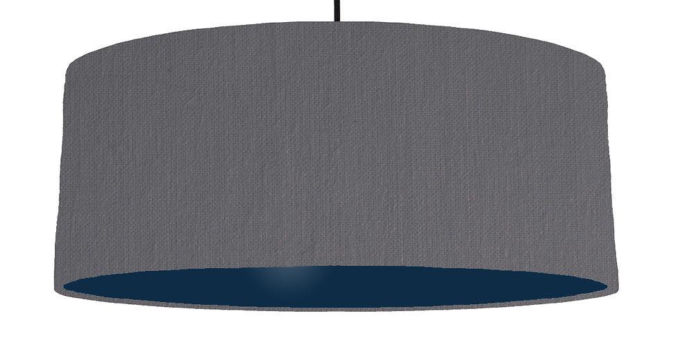 Dark Grey & Navy Lampshade - 70cm Wide