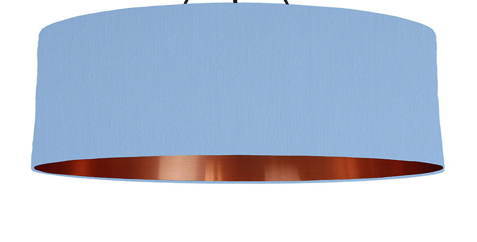 Sky Blue & Copper Mirrored Lampshade - 100cm Wide