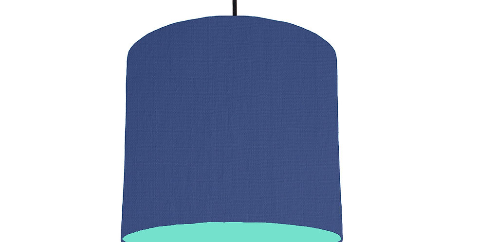 Royal Blue & Mint Lampshade - 25cm Wide