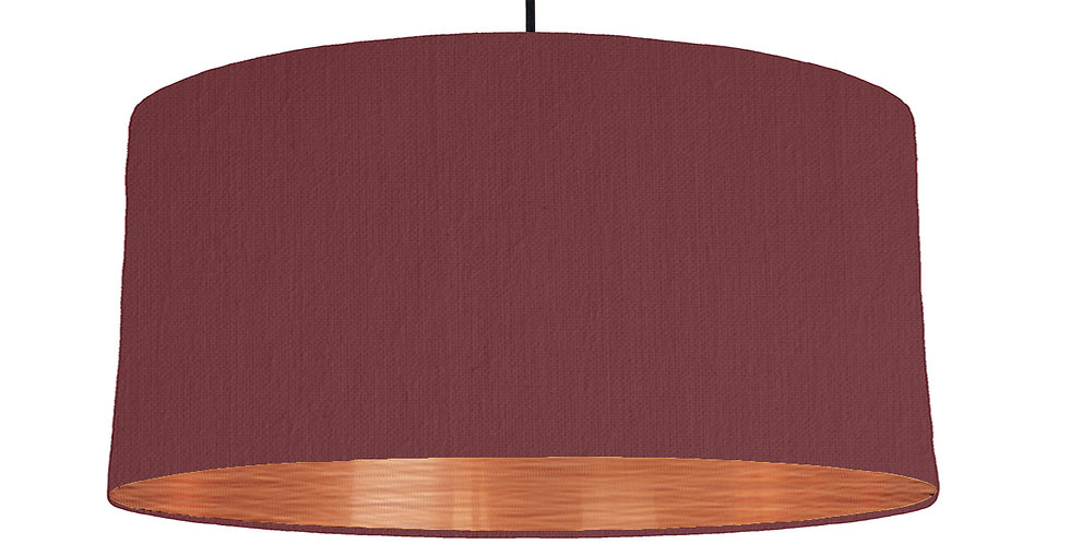 Wine Red & Brushed Copper Lampshade - 60cm Wide