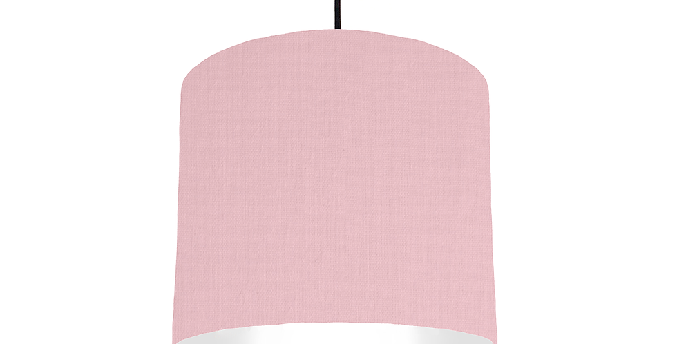 Pink & White Lampshade - 25cm Wide