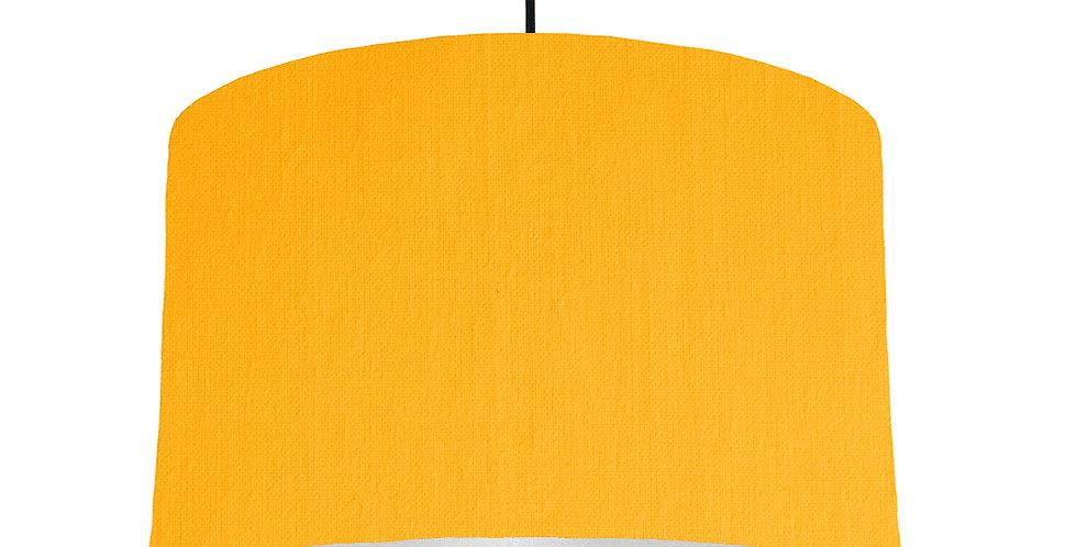 Sunshine & Silver Matt Lampshade - 40cm Wide