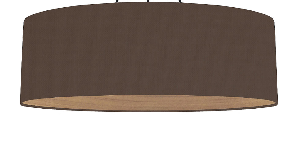 Brown & Wooden Lined Lampshade - 100cm Wide