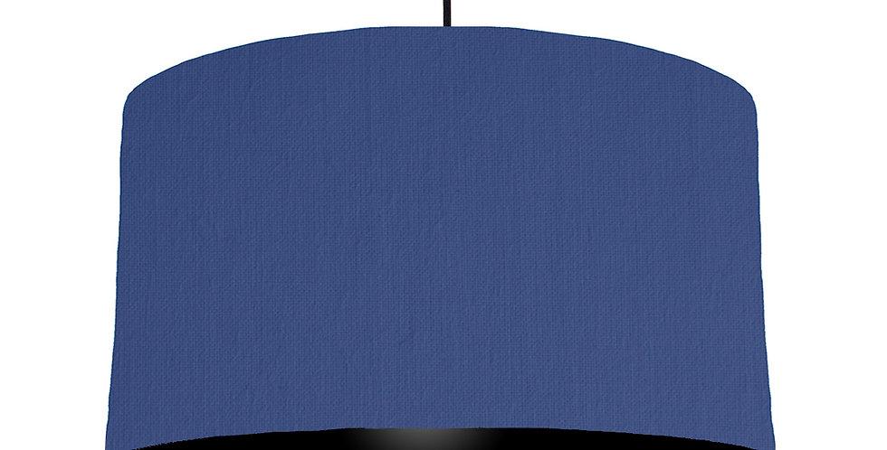 Royal Blue & Black Lampshade - 50cm Wide