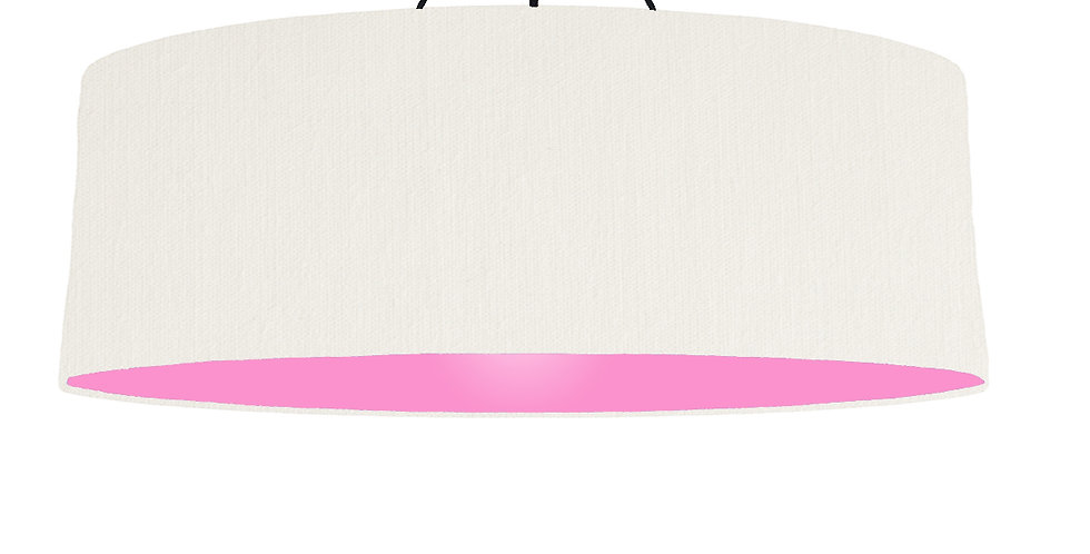 White & Pink Lampshade - 100cm Wide