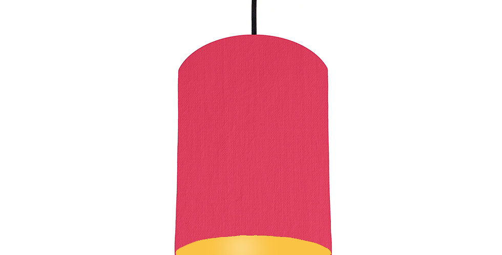 Cerise & Butter Yellow Lampshade - 15cm Wide