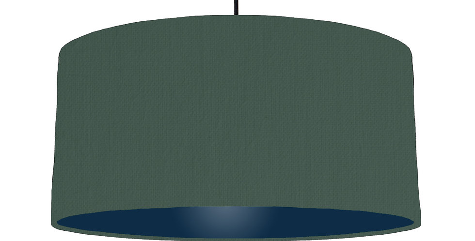 Bottle Green & Navy Lampshade - 60cm Wide