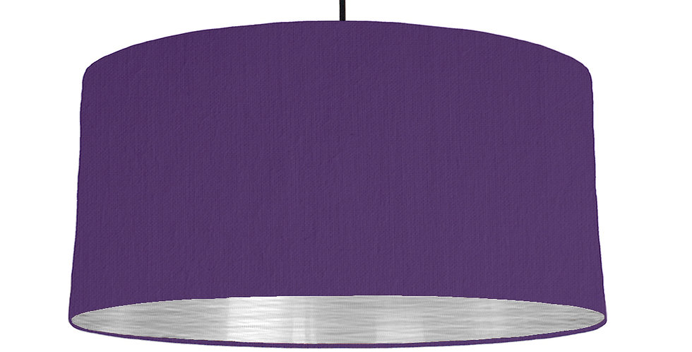 Violet & Brushed Silver Lampshade - 60cm Wide