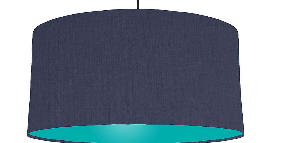 Navy Blue & Turquoise Lampshade - 60cm Wide