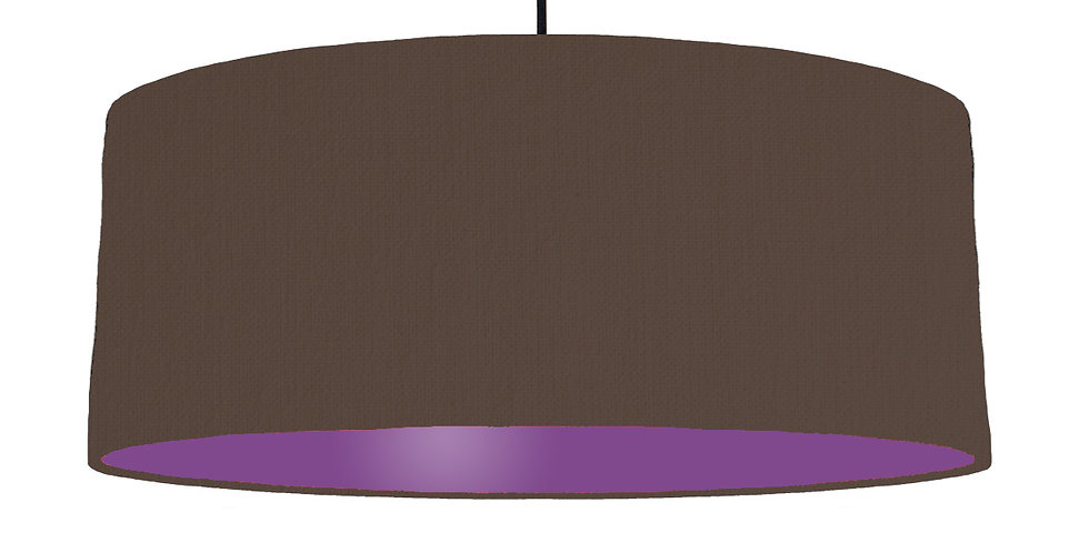 Brown & Purple Lampshade - 70cm Wide