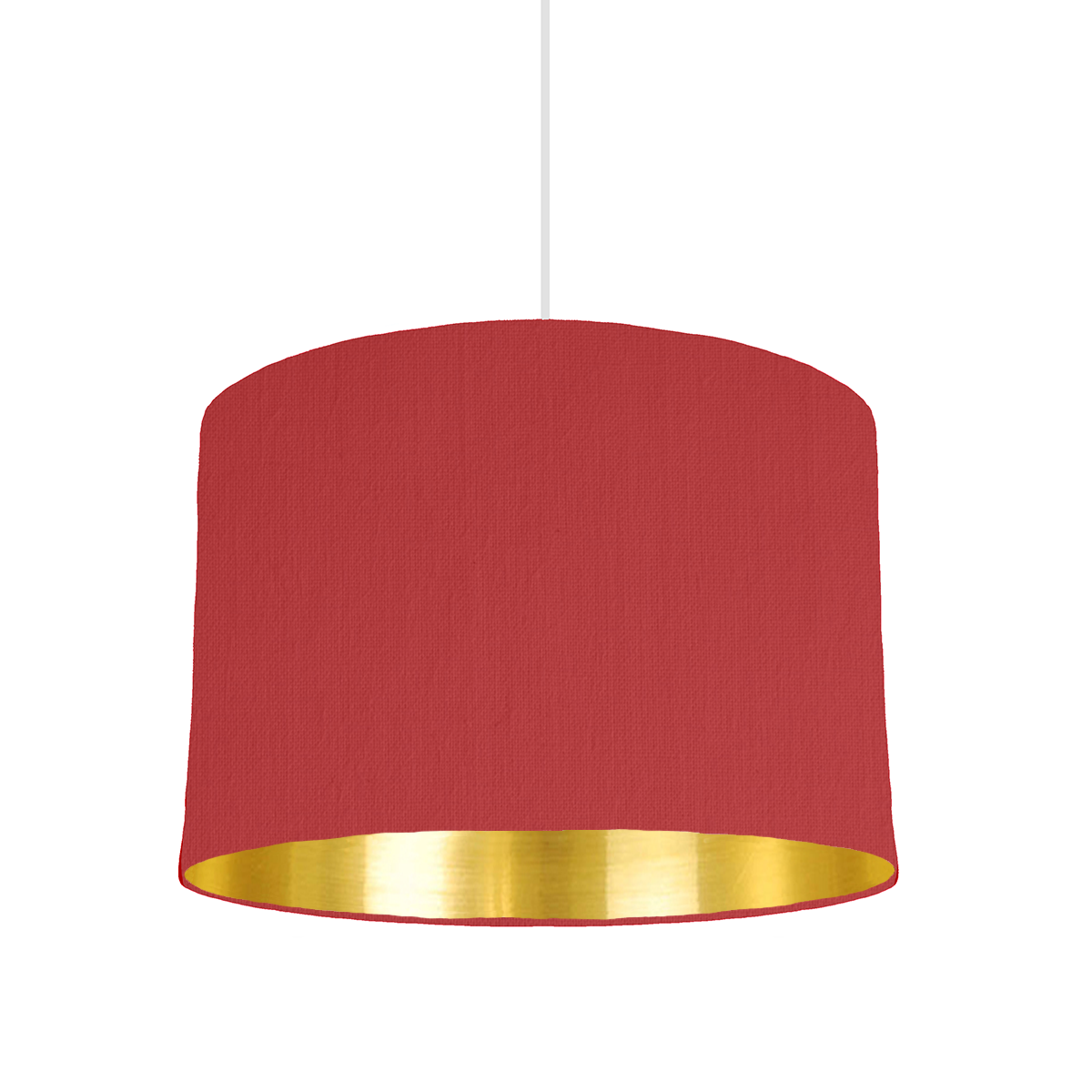 Red Gold Mirrored Lampshade 30cm Wide Bymarie