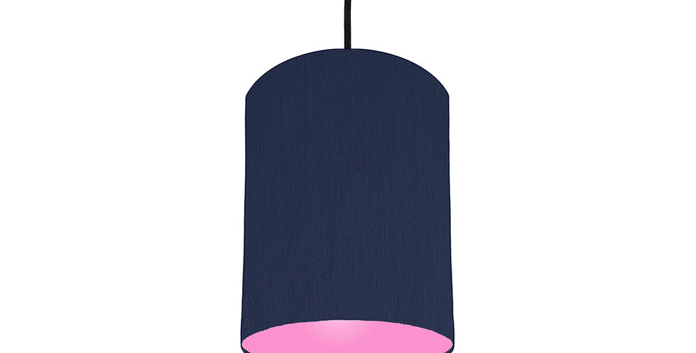 Navy Blue & Pink Lampshade - 15cm Wide
