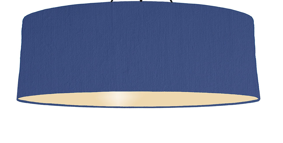 Royal Blue & Ivory Lampshade - 100cm Wide