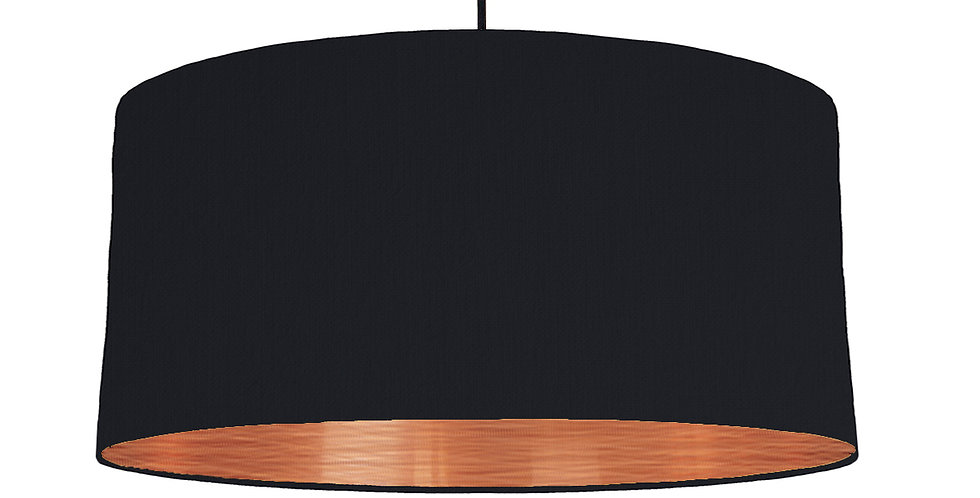 Black & Brushed Copper Lampshade - 60cm Wide