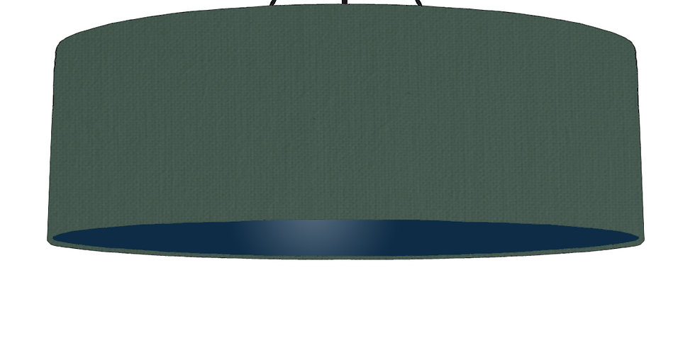 Bottle Green & Navy Lampshade - 100cm Wide