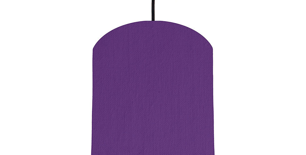 Violet & Brushed Silver Lampshade - 20cm Wide