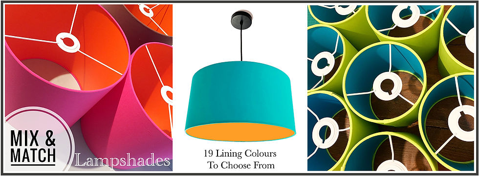 Mix and Match lampshades, bymarie