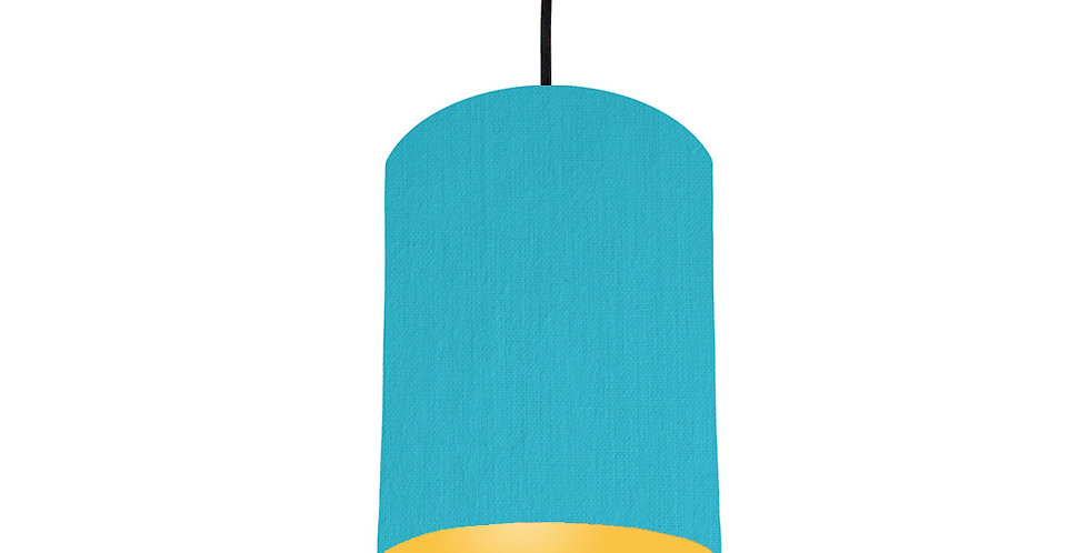 Turquoise & Butter Yellow Lampshade - 15cm Wide