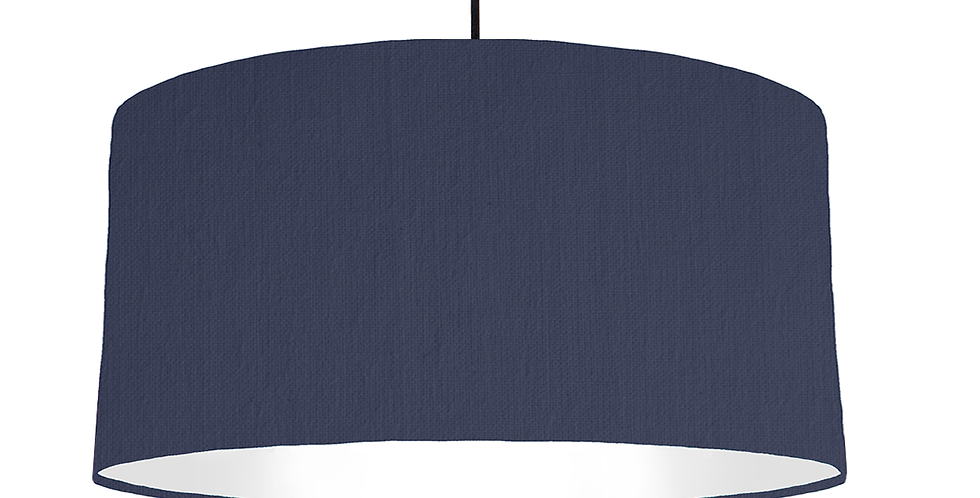 Navy & White Lampshade - 60cm Wide