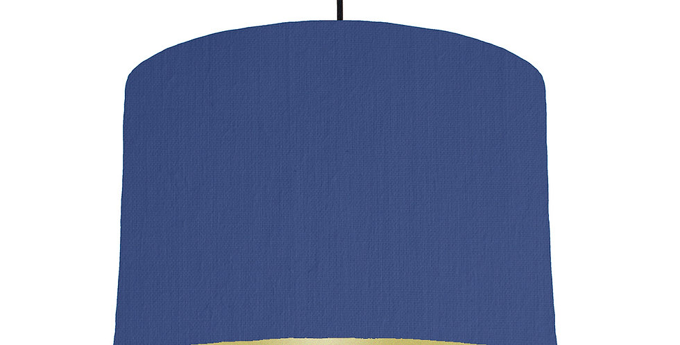 Royal Blue & Gold Matt Lampshade - 30cm Wide