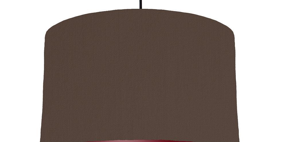Brown & Burgundy Lampshade - 40cm Wide