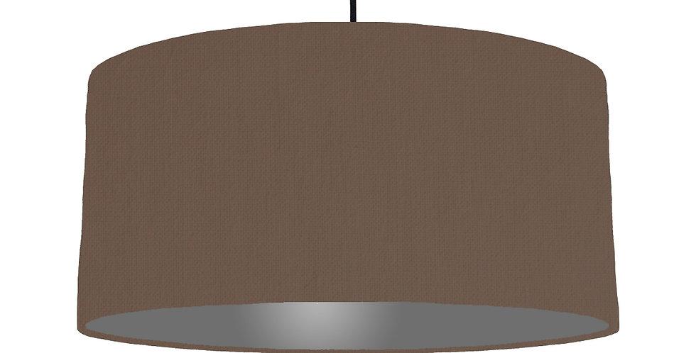 Brown & Dark Grey Lampshade - 60cm Wide