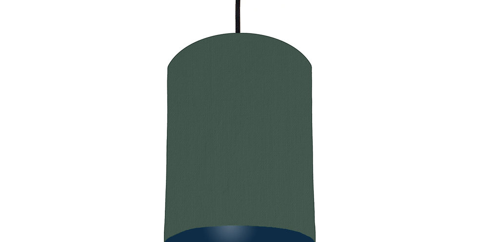 Bottle Green & Navy Lampshade - 15cm Wide