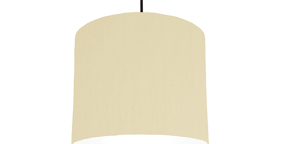 Natural & White Lampshade - 25cm Wide