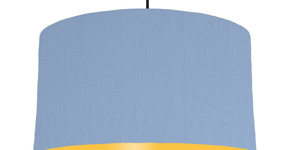 Sky Blue & Butter Yellow Lampshade - 50cm Wide