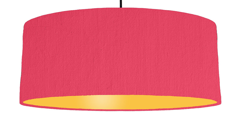 Cerise & Butter Yellow Lampshade - 70cm Wide