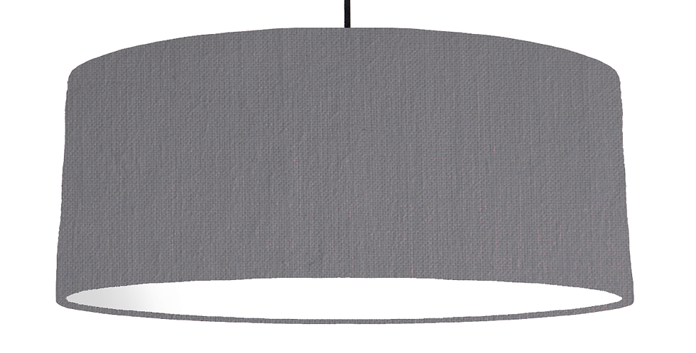 Dark Grey & White Lampshade - 70cm Wide