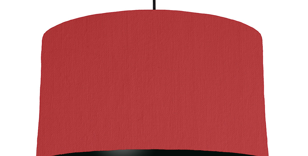Red & Black Lampshade - 50cm Wide