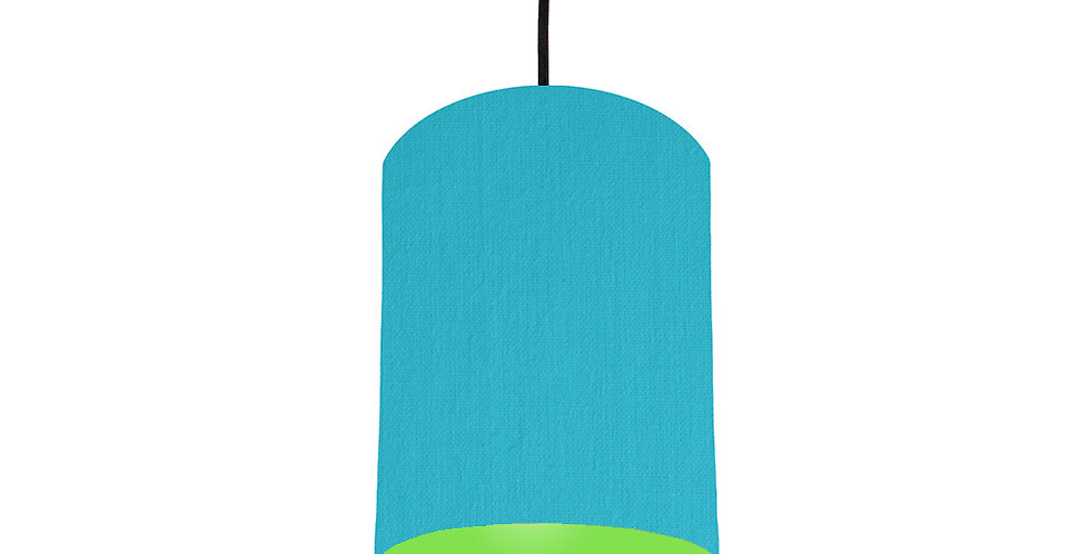 Turquoise & Lime Green Lampshade - 15cm Wide