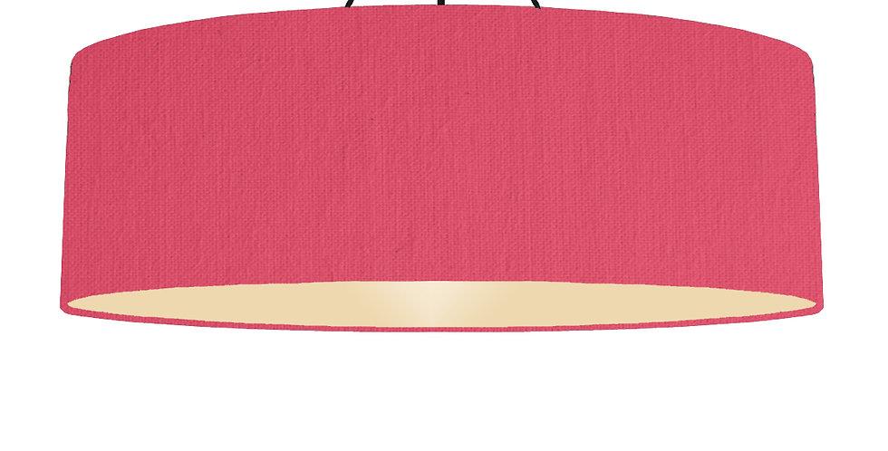 Cerise & Ivory Lampshade - 100cm Wide