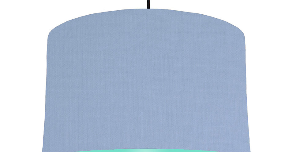 Sky Blue & Mint Lampshade - 40cm Wide