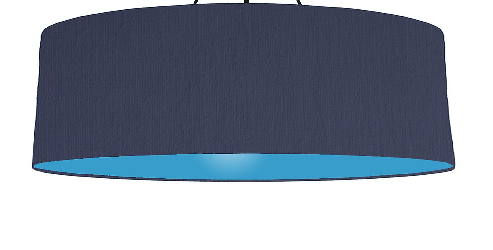 Navy Blue & Light Blue Lampshade - 100cm Wide