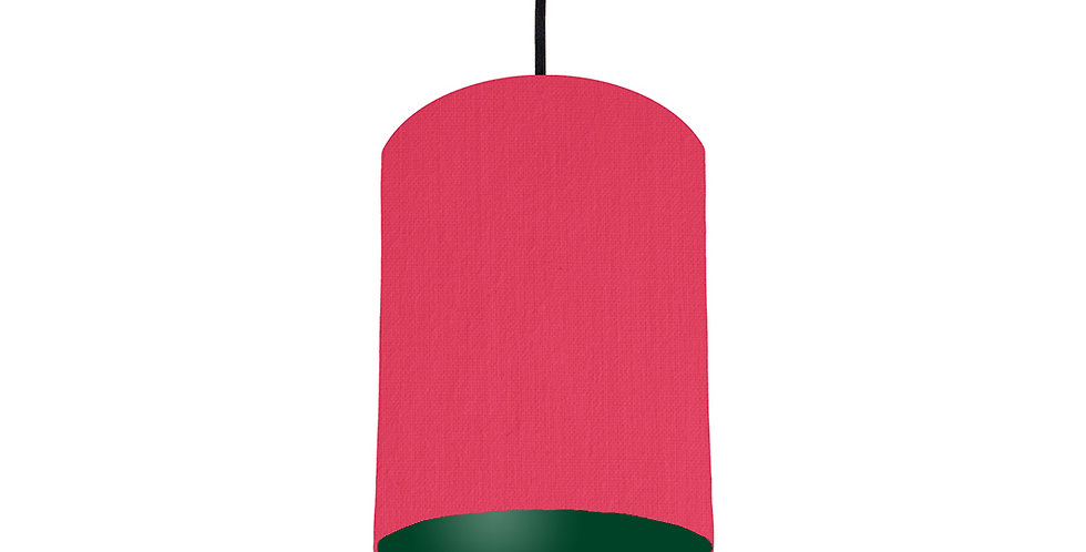 Cerise & Forest Green Lampshade - 15cm Wide