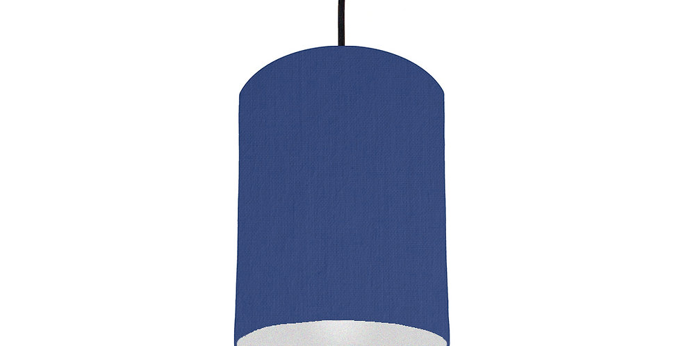 Royal Blue & Silver Matt Lampshade - 15cm Wide