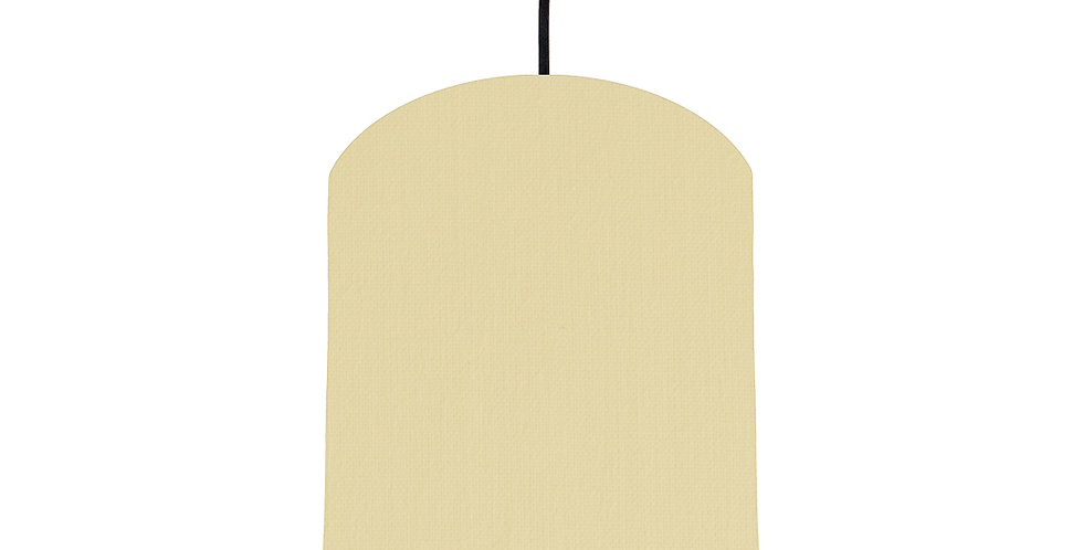 Natural & Wood Lined Lampshade - 20cm Wide