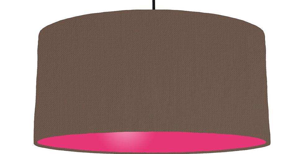 Brown & Magenta Lampshade - 60cm Wide