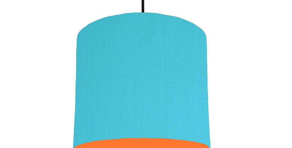 Turquoise & Orange Lampshade - 25cm Wide