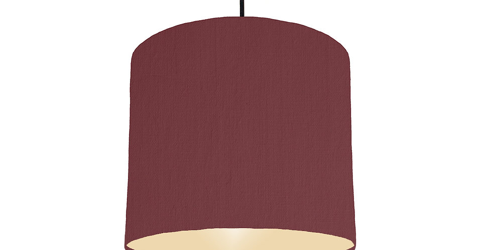 Wine Red & Ivory Lampshade - 25cm Wide