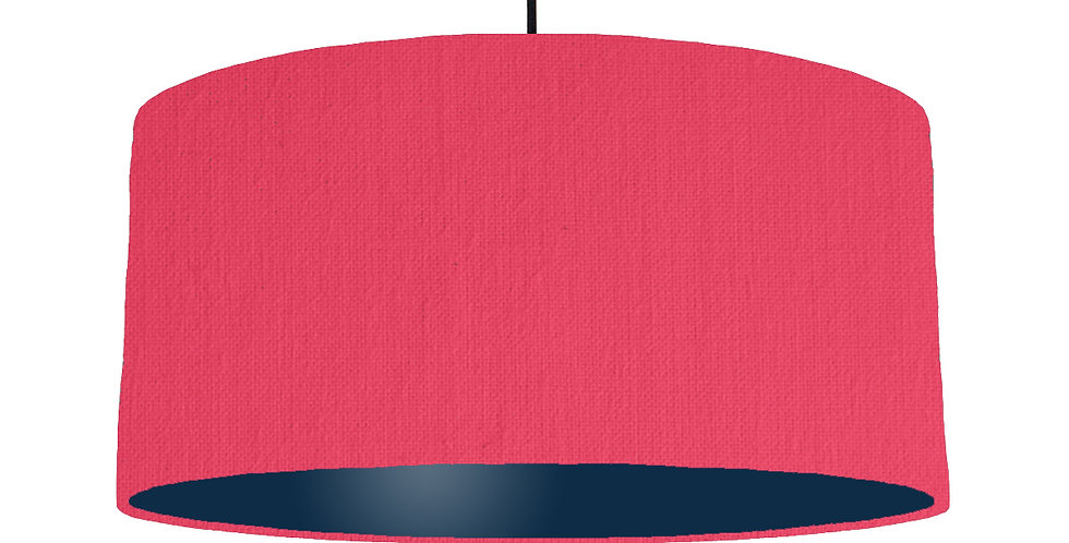Cerise & Navy Lampshade - 60cm Wide