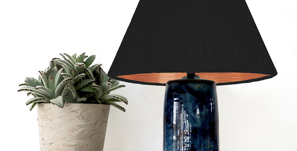 Conical Lampshade (15Tx45Bx30H) - Brushed Copper Lining