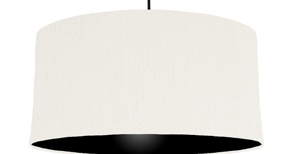 White & Black Lampshade - 60cm Wide