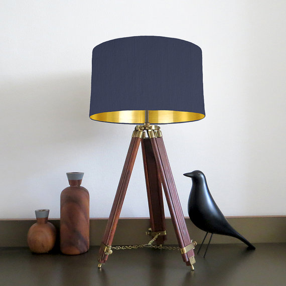 Navy blue lampshade