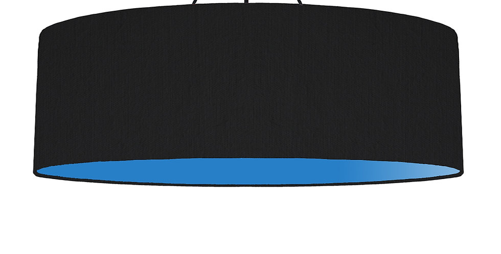 Black & Bright Blue Lampshade - 100cm Wide
