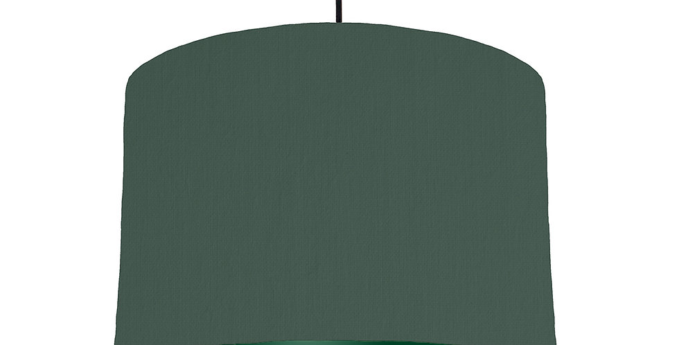 Bottle Green & Forest Green Lampshade - 30cm Wide